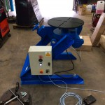2. Fully Reconditioned MPE Yates 750kg Manual Tilt Welding Positioner with Foot Pedal Control, 415V