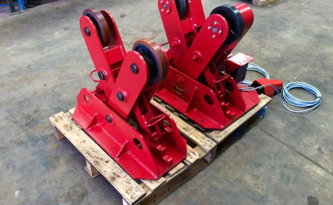 6. BODE 2 Tonne Scissor Pipe Rotators 110V, Fully Reconditioned