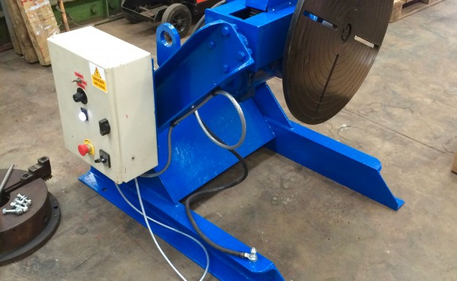8. Fully Reconditioned MPE Yates 750kg Manual Tilt Welding Positioner with Foot Pedal Control, 415V
