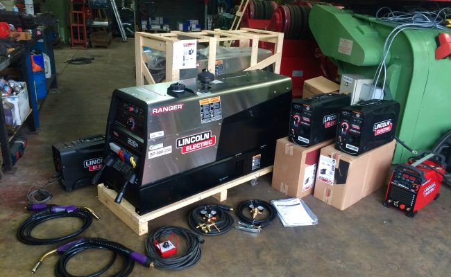 1. Brand New Lincoln Electric Ranger 305D Welder Generator MIG and MMA Stick Setup with LN-25 Pro Wire Feeders