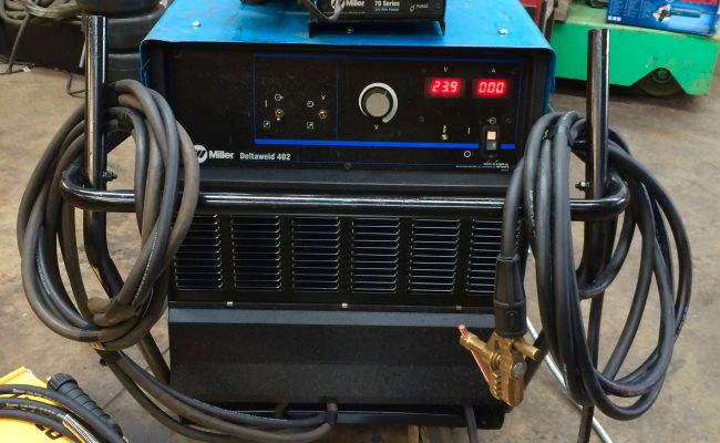 2. Miller Deltaweld 402 415V with Miller S-74DX Wire Feeder MIG Welder Package