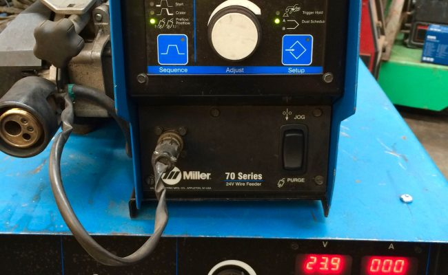 3. Miller Deltaweld 402 415V with Miller S-74DX Wire Feeder MIG Welder Package