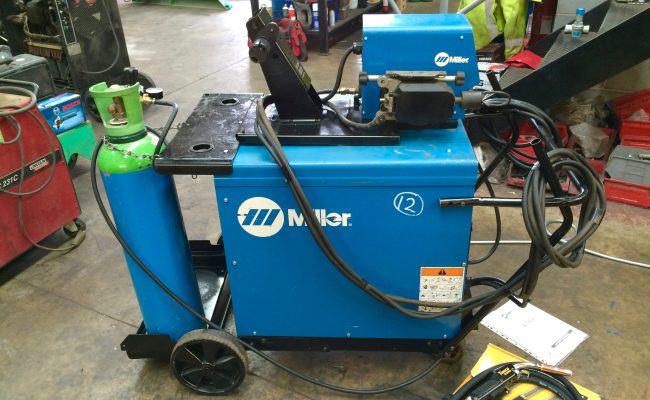 7. Miller Deltaweld 402 415V with Miller S-74DX Wire Feeder MIG Welder Package