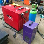 12. Lincoln Electric CV 500-I and Lincoln Electric LF38 Wire Feeder Water Cooled MIG Welding Machine Package coupled with BODE 3m x 3m Column and Boom Welding Manipulator