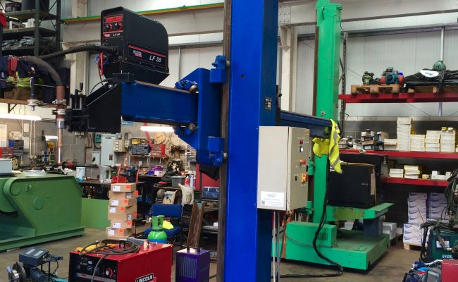 3. Lincoln Electric CV 500-I and Lincoln Electric LF38 Wire Feeder Water Cooled MIG Welding Machine Package coupled with BODE 3m x 3m Column and Boom Welding Manipulator