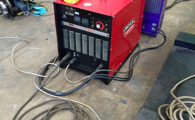 7. Lincoln Electric CV 500-I and Lincoln Electric LF38 Wire Feeder Water Cooled MIG Welding Machine Package coupled with BODE 3m x 3m Column and Boom Welding Manipulator