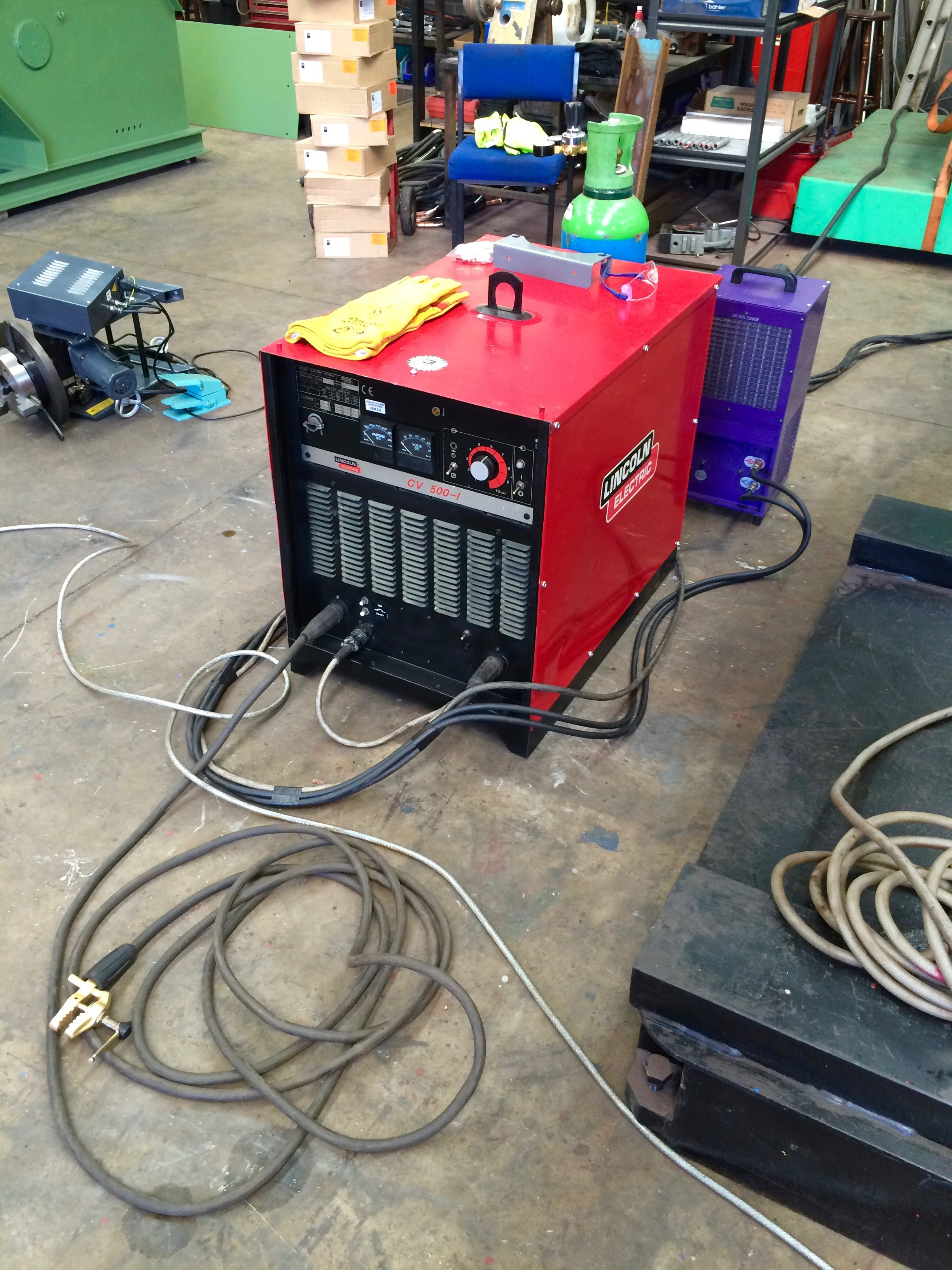 electric machine cv view cooled water x feeder with portfolio i welding and wire column lincoln welder coupled boom mig feed package manipulator bode automated for