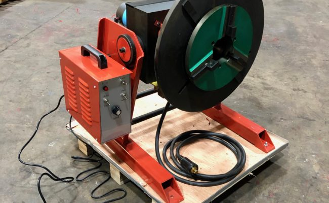 300kg SWL SPECIAL Welding Positioner with 90mm hole through table-7