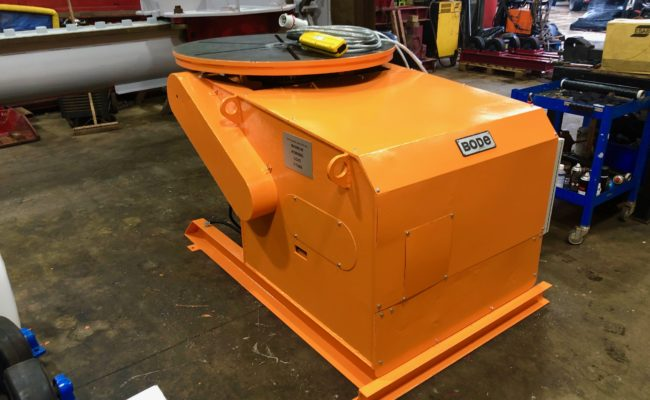 BODE 3 tonne SWL welding positioner, stripped, refurbished and painted orange-1