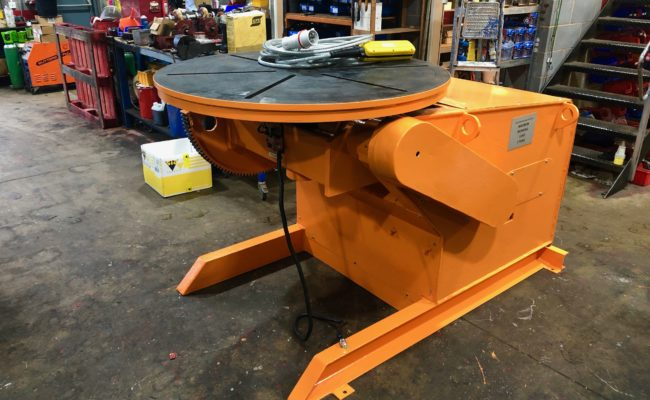BODE 3 tonne SWL welding positioner, stripped, refurbished and painted orange-2