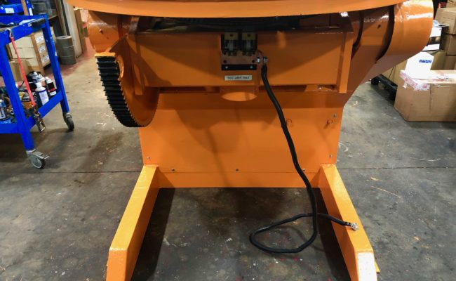 BODE 3 tonne SWL welding positioner, stripped, refurbished and painted orange-3