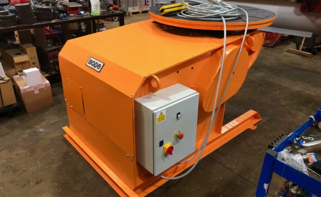 BODE 3 tonne SWL welding positioner, stripped, refurbished and painted orange-4