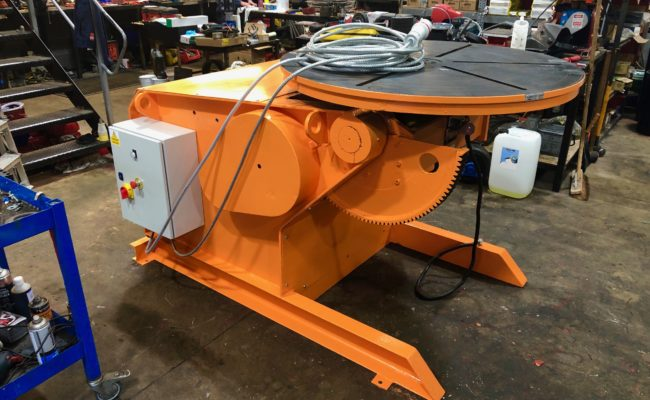 BODE 3 tonne SWL welding positioner, stripped, refurbished and painted orange-5
