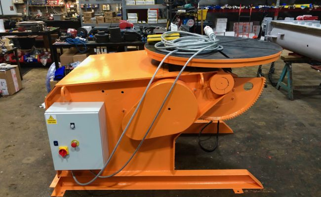 BODE 3 tonne SWL welding positioner, stripped, refurbished and painted orange-6