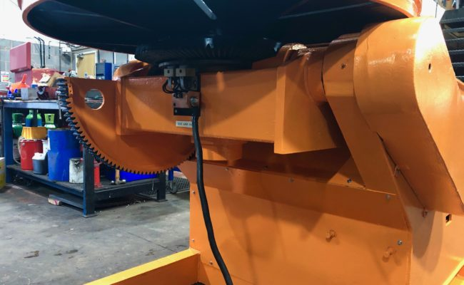 BODE 3 tonne SWL welding positioner, stripped, refurbished and painted orange-7