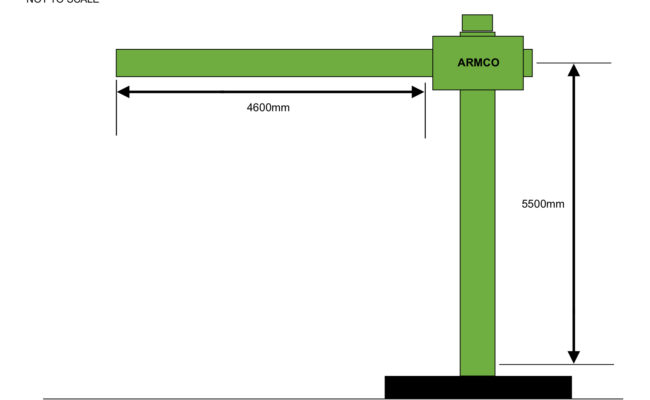 Armco 5.5 x 4.6 Column and Boom Travel Distances, Rough Sketch