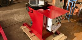 New 500kg SWL fully motorised welding positioner with 565mm 3-jaw chuck