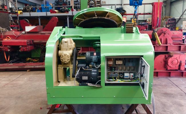 Refurbishing BODE 100SP 5 tonne SWL welding positioner with 600mm 3 jaw chuck-16