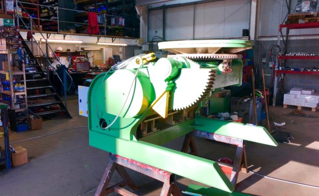 Refurbishing BODE 100SP 5 tonne SWL welding positioner with 600mm 3 jaw chuck-17