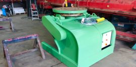 Refurbishing BODE 100SP 5 tonne SWL welding positioner with 600mm 3 jaw chuck