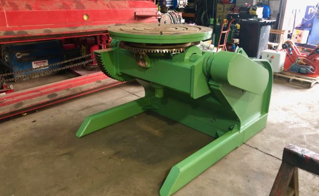 Refurbishing BODE 100SP 5 tonne SWL welding positioner with 600mm 3 jaw chuck-20