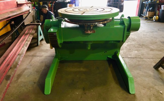 Refurbishing BODE 100SP 5 tonne SWL welding positioner with 600mm 3 jaw chuck-24