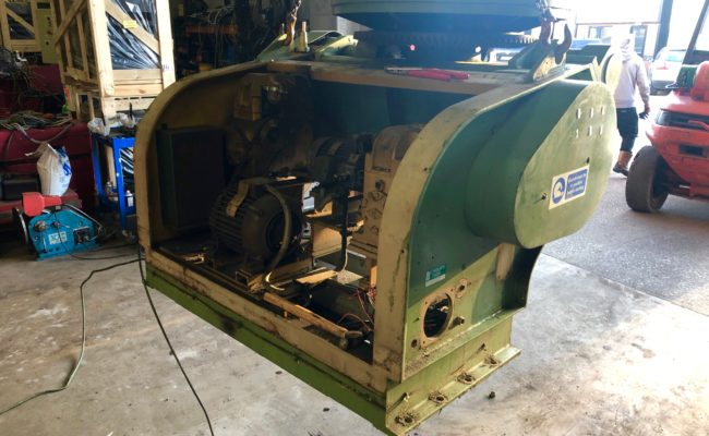 Refurbishing BODE 100SP 5 tonne SWL welding positioner with 600mm 3 jaw chuck-3