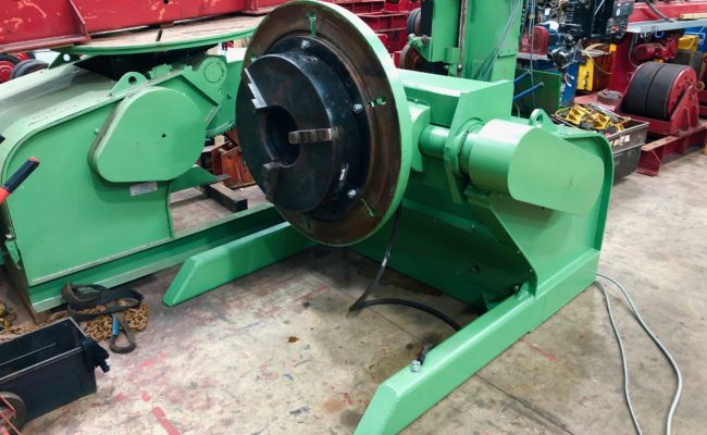 Refurbishing BODE 100SP 5 tonne SWL welding positioner with 600mm 3 jaw chuck-30
