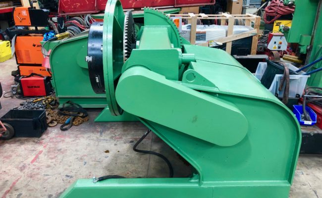 Refurbishing BODE 100SP 5 tonne SWL welding positioner with 600mm 3 jaw chuck-32
