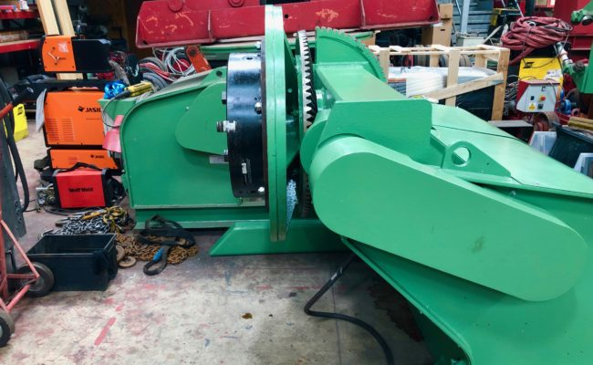 Refurbishing BODE 100SP 5 tonne SWL welding positioner with 600mm 3 jaw chuck-33