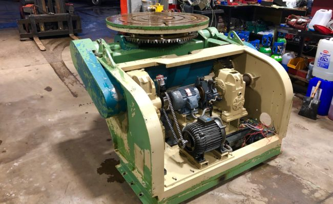 Refurbishing BODE 100SP 5 tonne SWL welding positioner with 600mm 3 jaw chuck-6