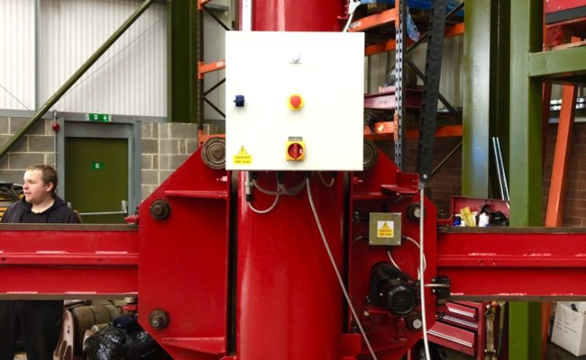 Spectrum hire fleet MPE 4 x 5 travelling base column and boom welding point manipulator-12