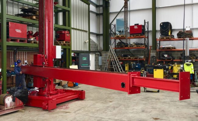 Spectrum hire fleet MPE 4 x 5 travelling base column and boom welding point manipulator-14