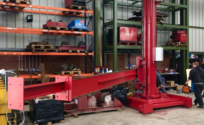 Spectrum hire fleet MPE 4 x 5 travelling base column and boom welding point manipulator-15