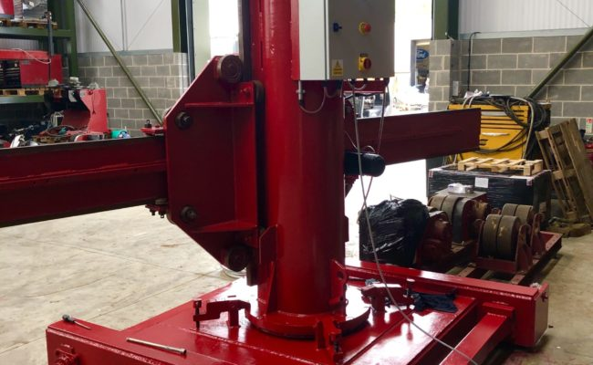 Spectrum hire fleet MPE 4 x 5 travelling base column and boom welding point manipulator-6