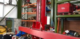 Spectrum hire fleet MPE 4 x 5 travelling base column and boom welding point manipulator