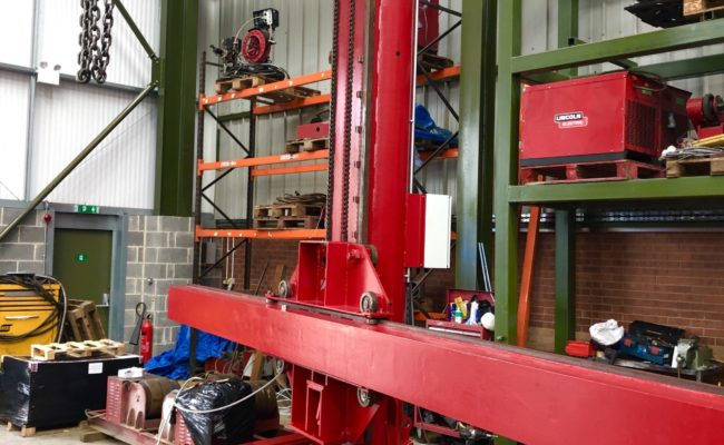 Spectrum hire fleet MPE 4 x 5 travelling base column and boom welding point manipulator-7