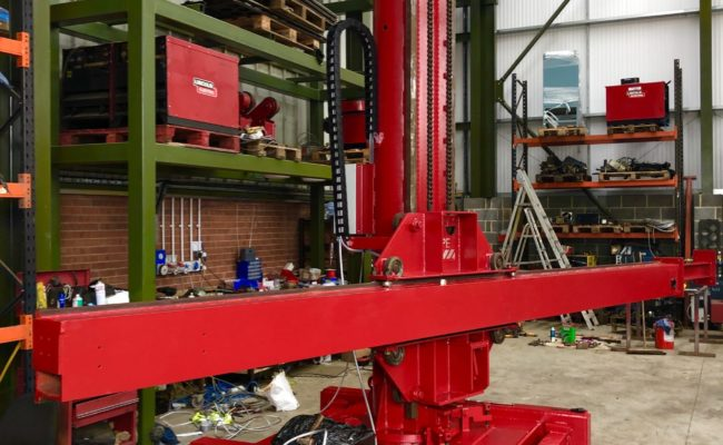 Spectrum hire fleet MPE 4 x 5 travelling base column and boom welding point manipulator-8