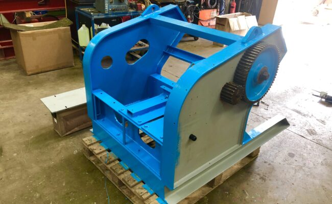 Used refurbished special build BODE VP3 3 tonne capacity welding positioner inverter control variable speed tilt-15