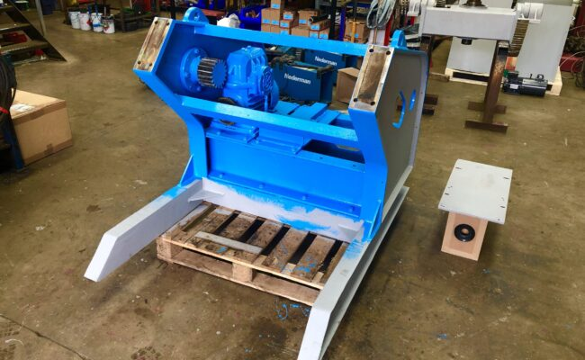 Used refurbished special build BODE VP3 3 tonne capacity welding positioner inverter control variable speed tilt-17