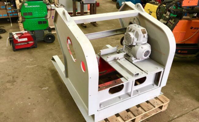 Used refurbished special build BODE VP3 3 tonne capacity welding positioner inverter control variable speed tilt-2