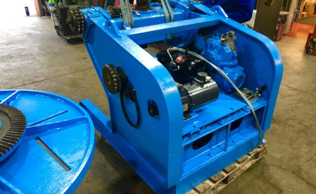 Used refurbished special build BODE VP3 3 tonne capacity welding positioner inverter control variable speed tilt-21