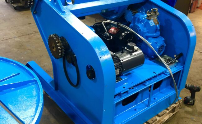 Used refurbished special build BODE VP3 3 tonne capacity welding positioner inverter control variable speed tilt-24
