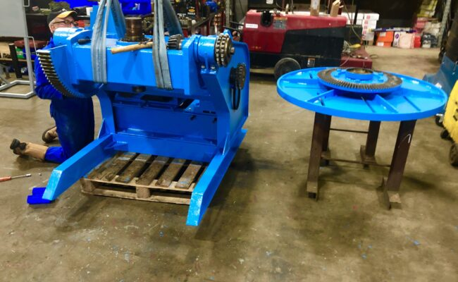 Used refurbished special build BODE VP3 3 tonne capacity welding positioner inverter control variable speed tilt-26