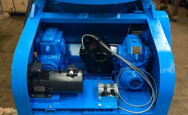 Used refurbished special build BODE VP3 3 tonne capacity welding positioner inverter control variable speed tilt-28
