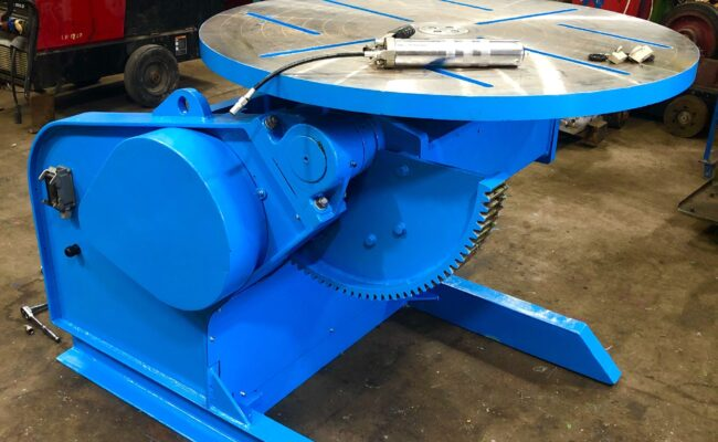 Used refurbished special build BODE VP3 3 tonne capacity welding positioner inverter control variable speed tilt-30