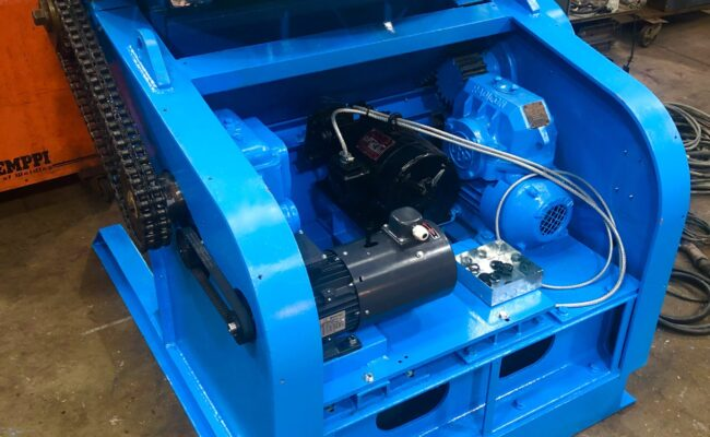 Used refurbished special build BODE VP3 3 tonne capacity welding positioner inverter control variable speed tilt-31