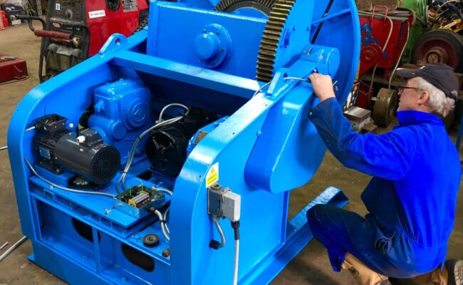 Used refurbished special build BODE VP3 3 tonne capacity welding positioner inverter control variable speed tilt-33