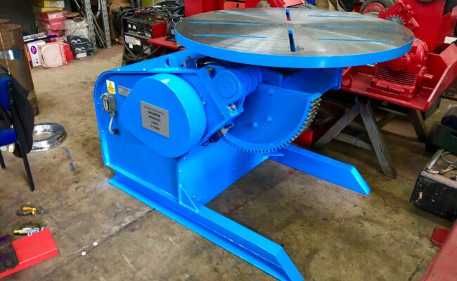 Used refurbished special build BODE VP3 3 tonne capacity welding positioner inverter control variable speed tilt-35
